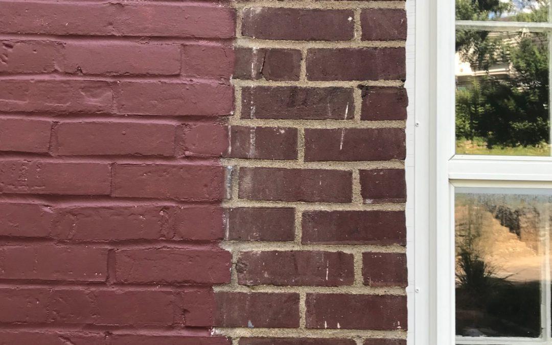 Repainting Brick Face