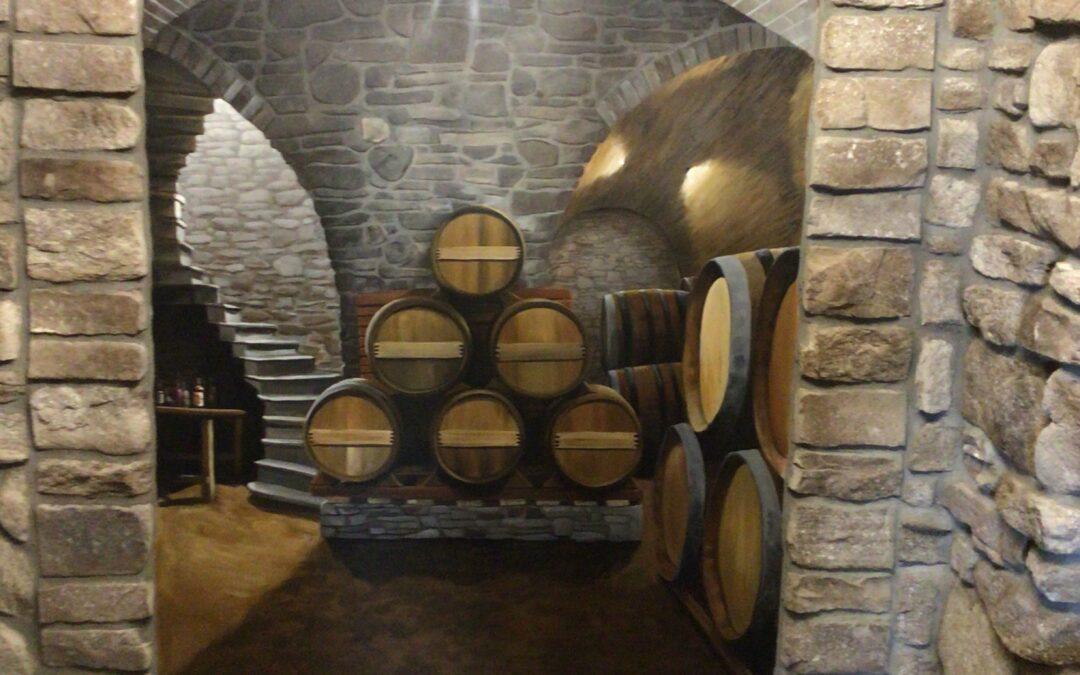 Vintage Wine Cellar Mural